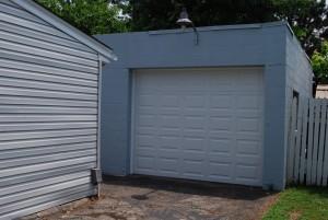 garage backyard